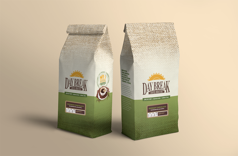 Day Break German Chocolate coffee bags